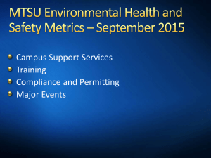 Campus Support Services Training Compliance and Permitting Major Events