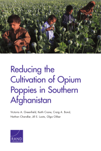 Reducing the Cultivation of Opium Poppies in Southern Afghanistan