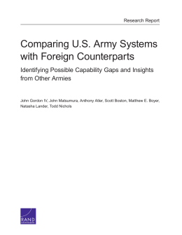 Comparing U.S. Army Systems with Foreign Counterparts from Other Armies