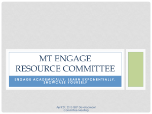 MT ENGAGE RESOURCE COMMITTEE