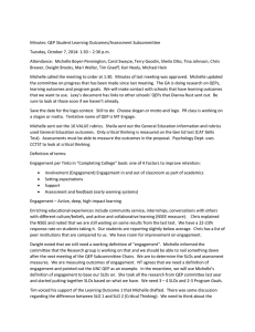 Minutes: QEP Student Learning Outcomes/Assessment Subcommittee
