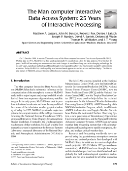 The Man computer Interactive Data Access System: 25 Years of Interactive Processing