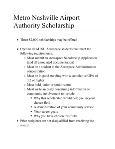 Metro Nashville Airport Authority Scholarship