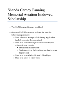 Shanda Carney Fanning Memorial Aviation Endowed Scholarship