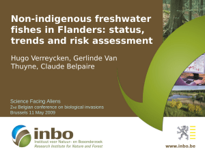 Non-indigenous freshwater fishes in Flanders: status, trends and risk assessment