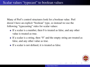 "Scalar values ""typecast"" to boolean values"
