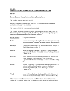DRAFT: MINUTES OF THE PROFESSIONAL STANDARDS COMMITTEE 9/26/08