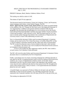 DRAFT: MINUTES OF THE PROFESSIONAL STANDARDS COMMITTEE  May 11, 2010