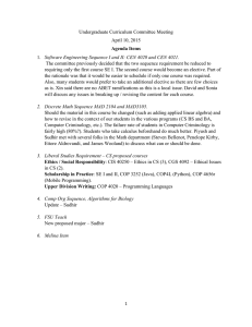 Undergraduate Curriculum Committee Meeting April 10, 2015 Agenda Items