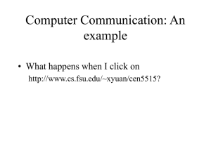 Computer Communication: An example • What happens when I click on