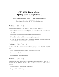 CIS 4930 Data Mining Spring 2016, Assignment 2