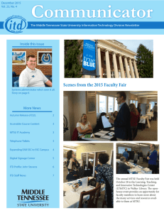 Communicator Scenes from the 2015 Faculty Fair Inside this issue More News