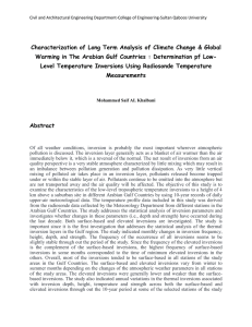 Characterization of Long Term Analysis of Climate Change & Global