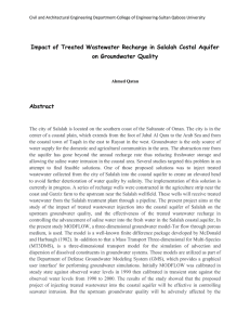 Impact of Treated Wastewater Recharge in Salalah Costal Aquifer Abstract