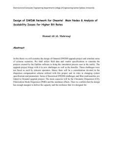 Design of DWDM Network for Omantel  Main Nodes &... Scalability Issues for Higher Bit Rates