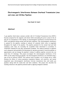 Electromagnetic Interference Between Overhead Transmission Lines and Lines and Oil/Gas Pipelines
