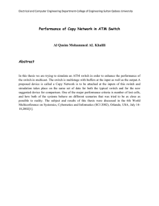 Performance of Copy Network in ATM Switch Abstract
