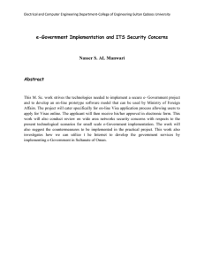 e-Government Implementation and ITS Security Concerns Nasser S. AL Manwari Abstract