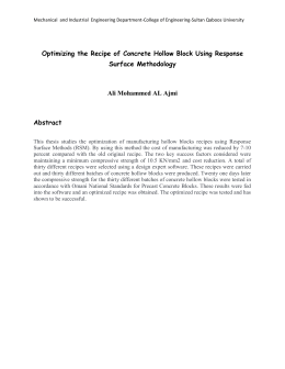 Optimizing the Recipe of Concrete Hollow Block Using Response Surface Methodology
