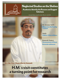 H.M.'s visit constitutes a turning point for research