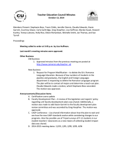 Teacher Education Council Minutes