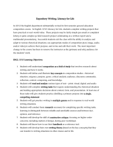 Expository Writing: Literacy for Life