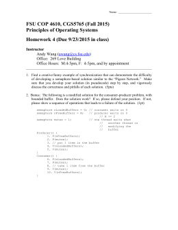 FSU COP 4610, CGS5765 (Fall 2015) Principles of Operating Systems