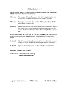 SGA Resolution 1-14-S  Middle Tennessee State University buses.