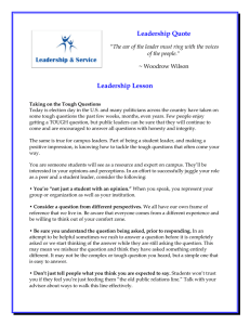 Leadership Quote Leadership Lesson