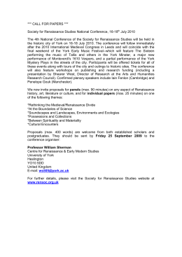 *** CALL FOR PAPERS ***  July 2010