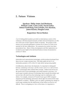 2. Future Visions
