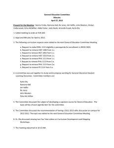 General Education Committee Minutes April 27, 2012 Present for the Meeting: