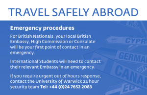 TRAVEL SAFELY ABROAD Emergency procedures