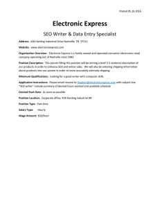 Electronic Express  SEO Writer & Data Entry Specialist