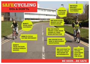 SAFE CYCLING DOs & DON'Ts