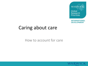 Caring about care How to account for care