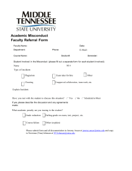 Academic Misconduct Faculty Referral  Form