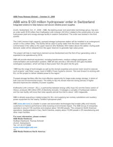 ABB wins $120 million hydropower order in Switzerland