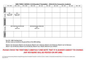 WBS TERM 2 WEEKS 2-10 (Standard Timetable) – 2015/16 for...