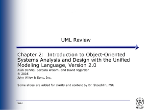 UML Review Chapter 2:  Introduction to Object-Oriented Modeling Language, Version 2.0