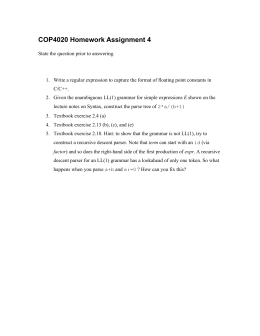 COP4020 Homework Assignment 4