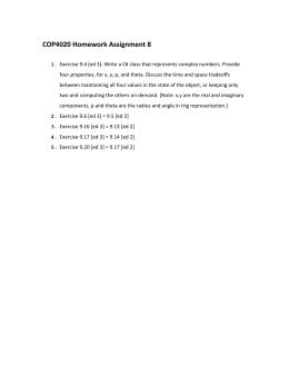 COP4020 Homework Assignment 8
