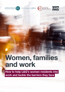 Women, families and work How to help L&Q's women residents into