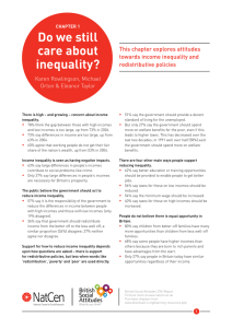 Do	we	still care	about inequality? This chapter explores attitudes