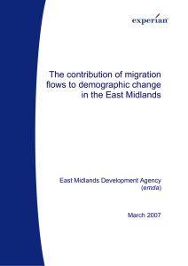 The contribution of migration flows to demographic change in the East Midlands