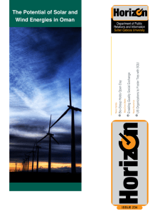 The Potential of Solar and Wind Energies in Oman Issue 234