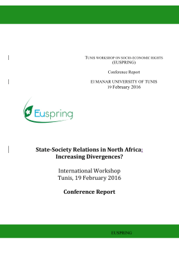 State-Society Relations in North Africa  Increasing Divergences? Conference Report