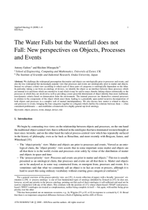 The Water Falls but the Waterfall does not and Events