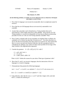 COT4420  Theory of Computation January 12, 2016