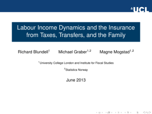 Labour Income Dynamics and the Insurance Richard Blundell Michael Graber